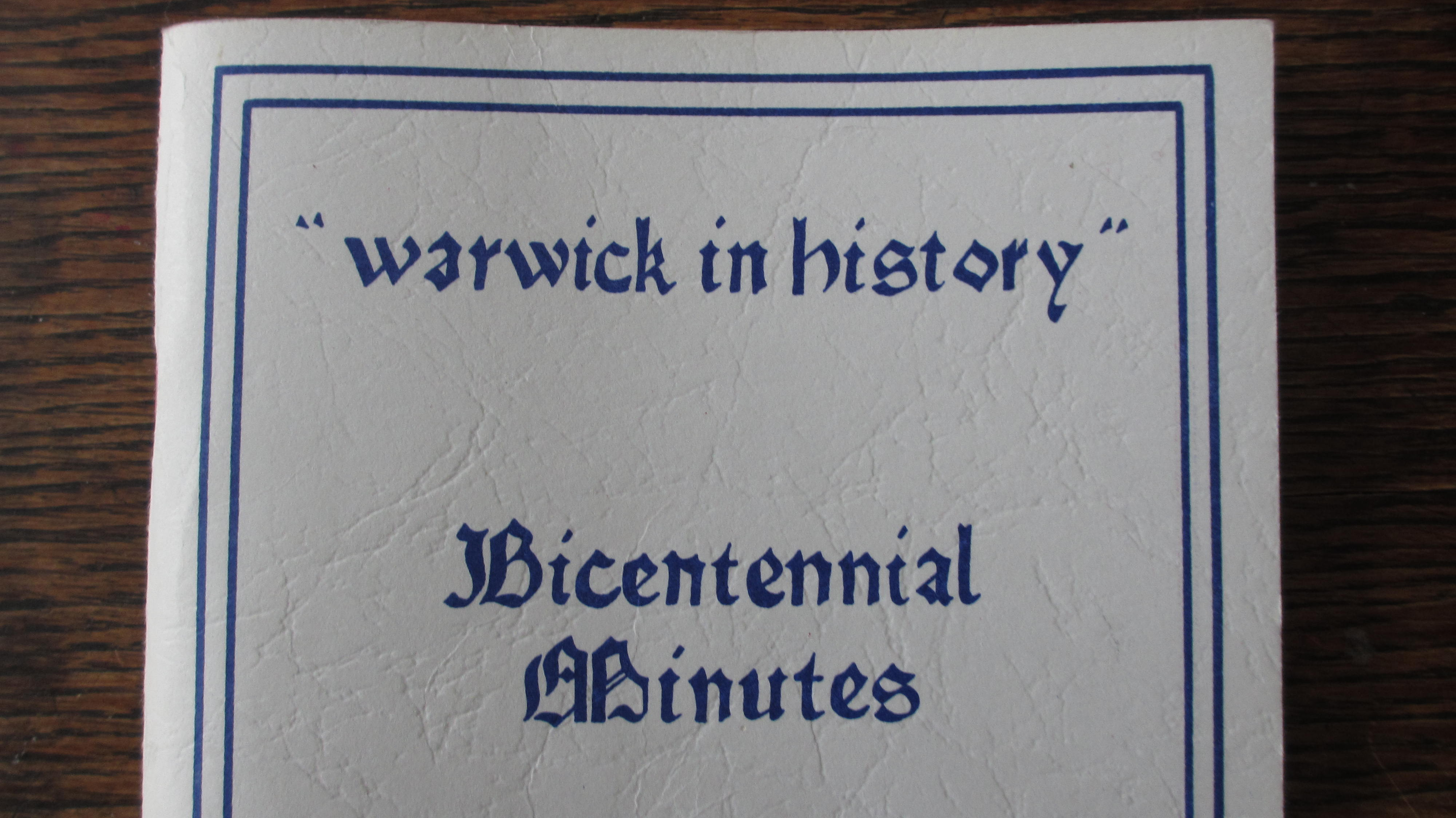 Warwick in History – On this date, March 14, 1898, occurred a fire in Warwick which showed that there was some great fire-fighting ability in the women of the village. (more)